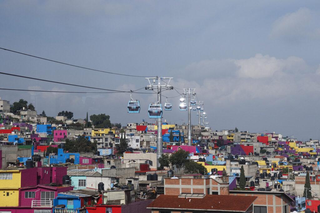 Fotogalería: La Linea 2 del Cablebús en Iztapalapa es inaugurada