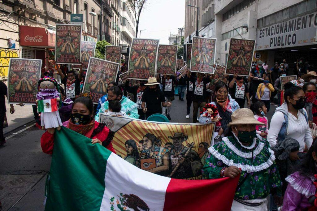 Fotogalería: Organizaciones indígenas protestan a 500 años del inicio de la resistencia