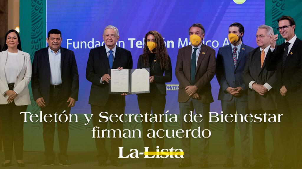 Teletón y Secretaría de Bienestar firman acuerdo
