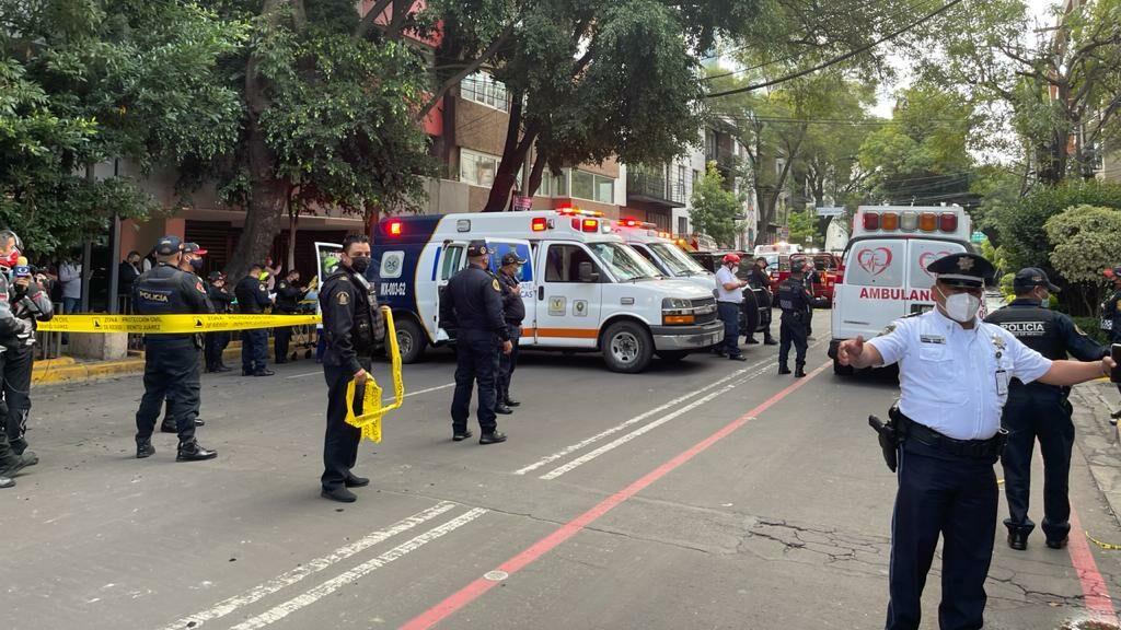 Reportan 22 lesionados tras explosión en la alcaldía Benito Juárez