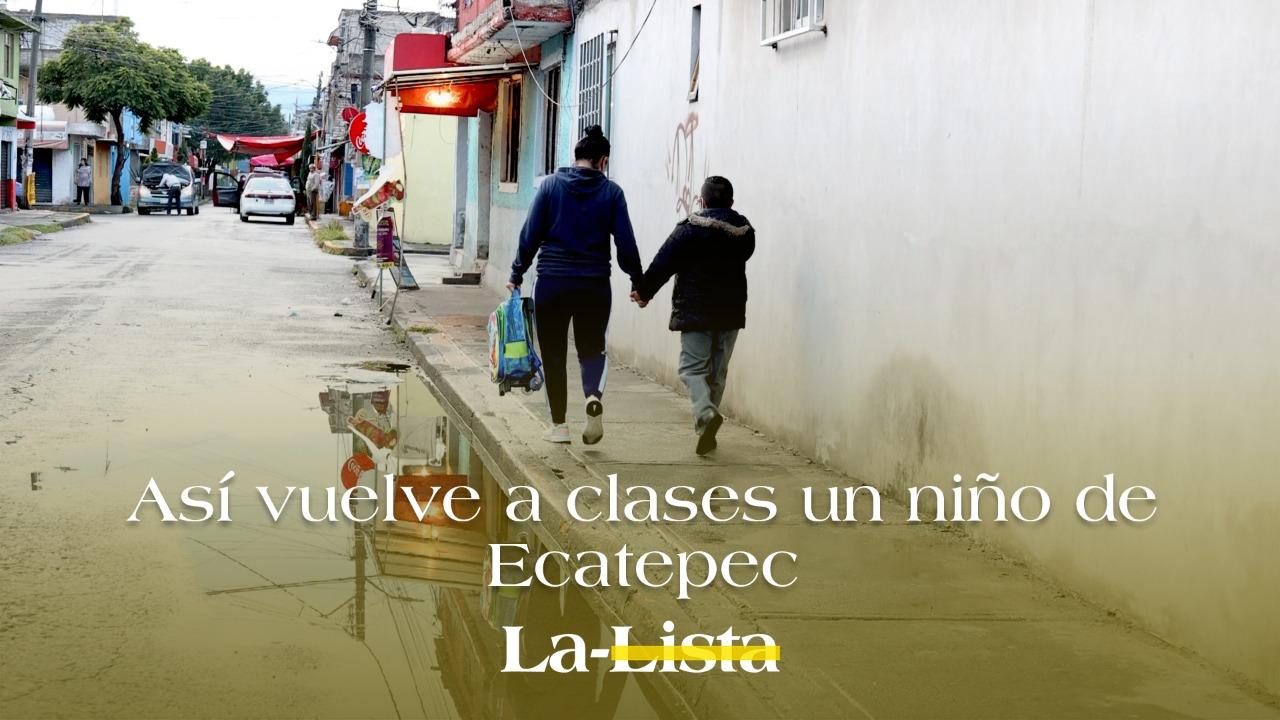 Así vuelve a clases un niño de Ecatepec