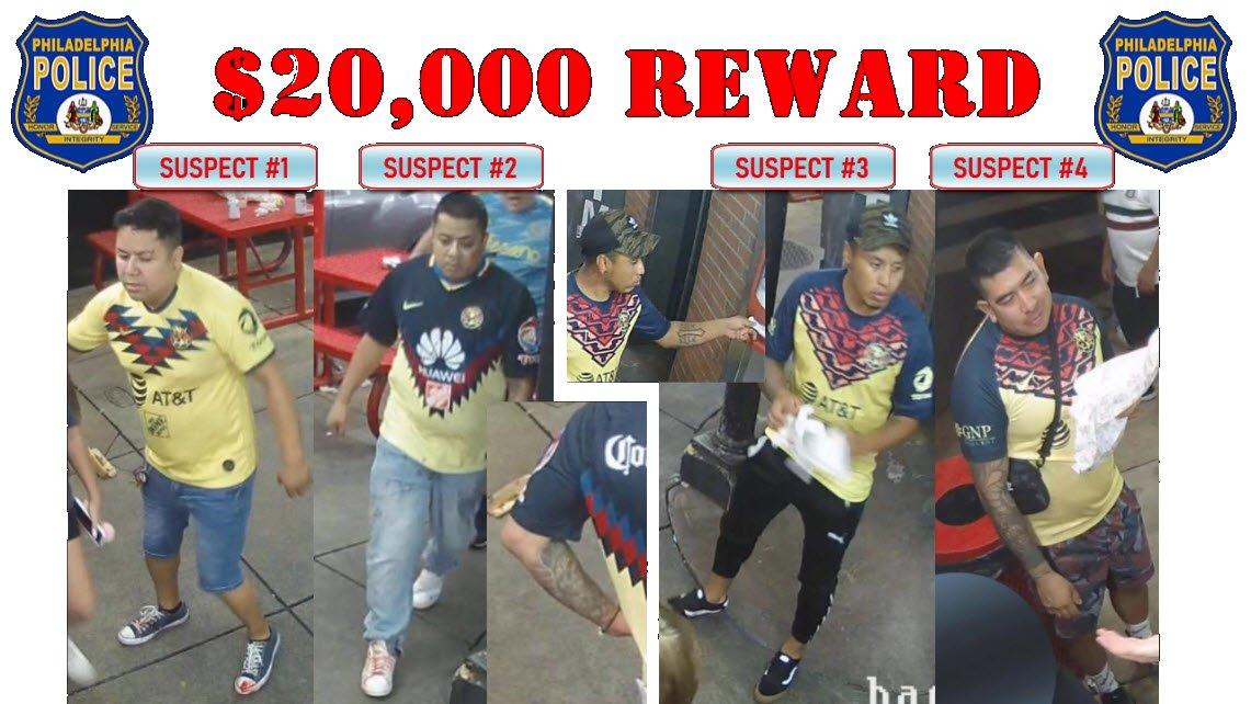 La policía de Filadelfia busca a 4 aficionados del América por el asesinato de una persona