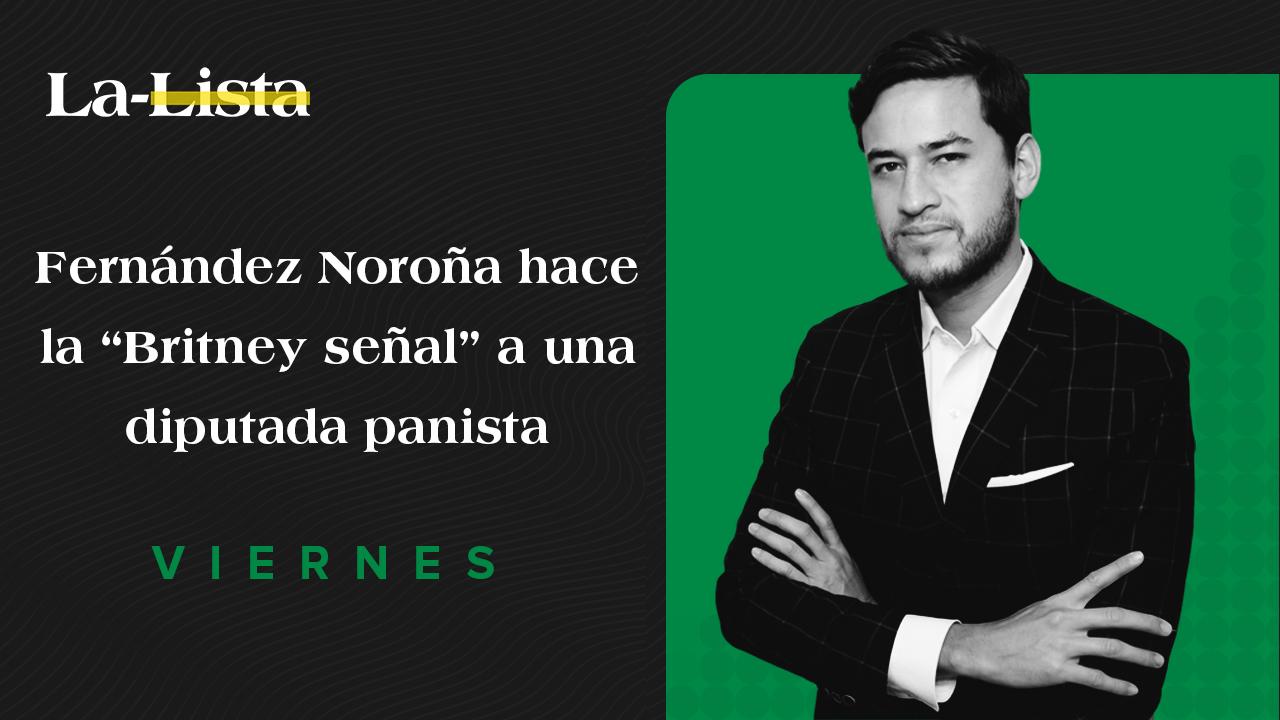"""Fernández Noroña hace la """"Britney señal"""" a una diputada panista"""