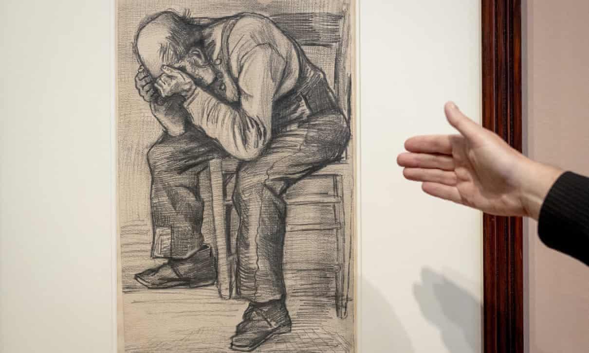 Dibujo a lápiz de un anciano es identificado como obra de Van Gogh