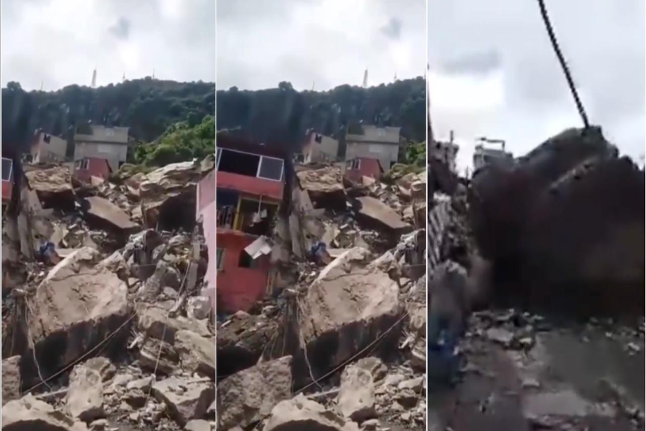 Derrumbe en cerro del Chiquihuite: Reportan un muerto y 10 desaparecidos
