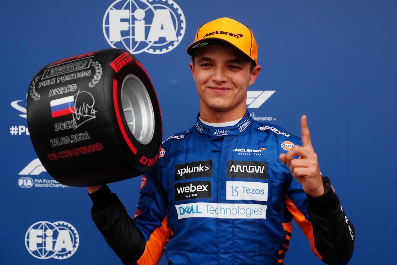 Sorpresa en la F1: Lando Norris se lleva la pole del Gran Premio de Rusia