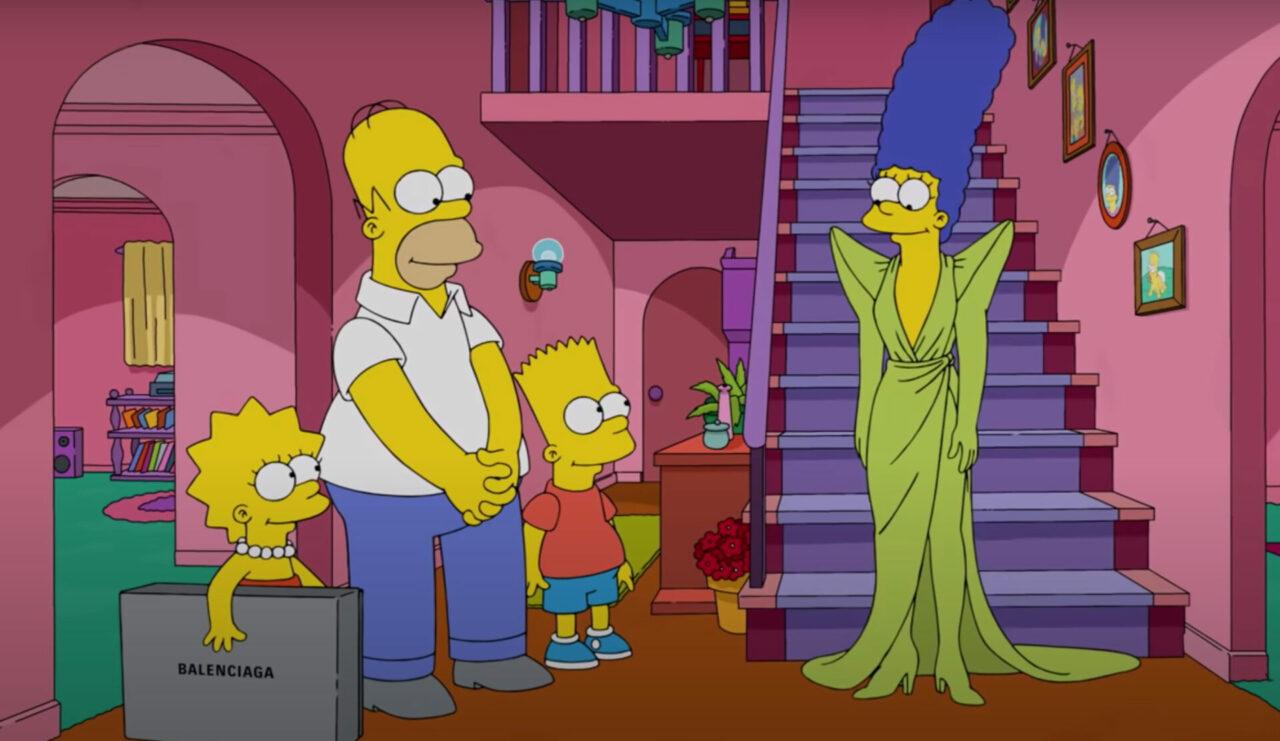 Balenciaga presenta su nueva colección con un capítulo de Los Simpsons