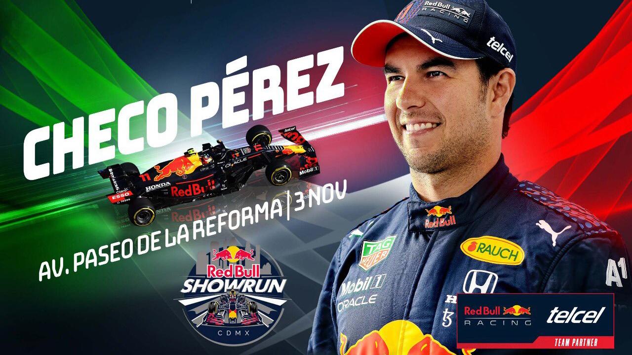 'Checo' Pérez y Red Bull calentarán motores con exhibición en calles de CDMX