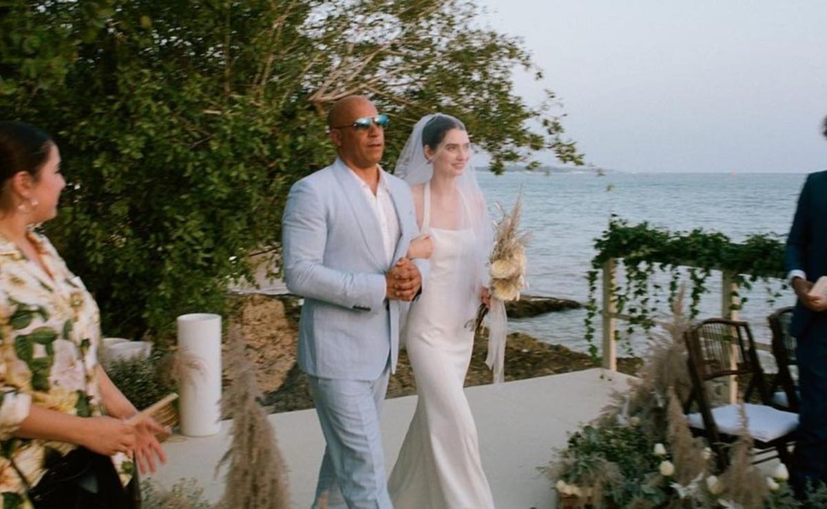 La hija de Paul Walker se casó; la acompañó Vin Diesel hasta el altar