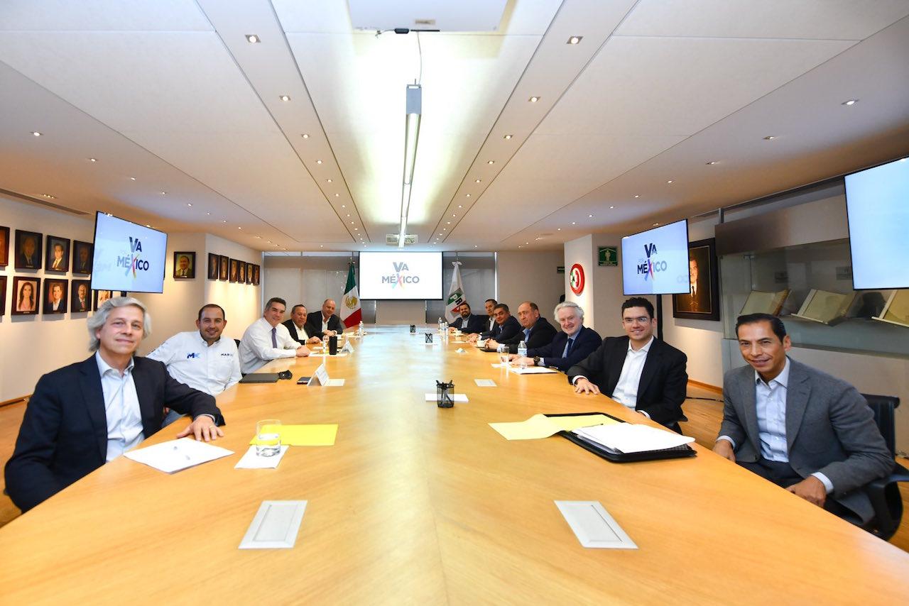 PAN, PRI y PRD reafirman alianza en reunión con Claudio X. González y Gustavo de Hoyos